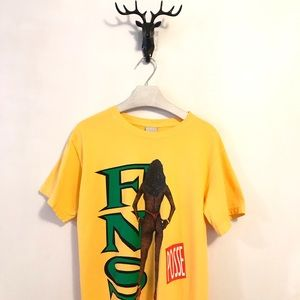 40's & Shorties T-Shirt Yellow Size Small NWT